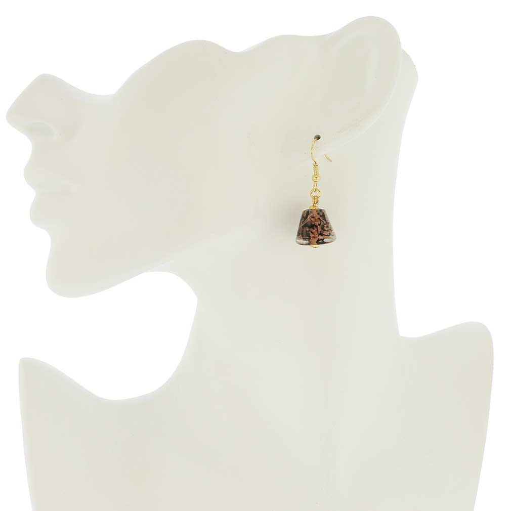 Starlight Cones Earrings - Black