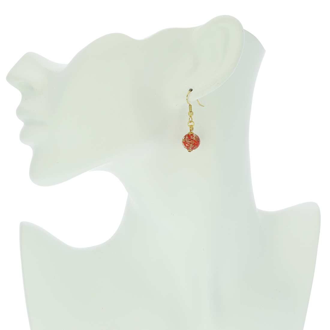 Starlight Balls Earrings - Red