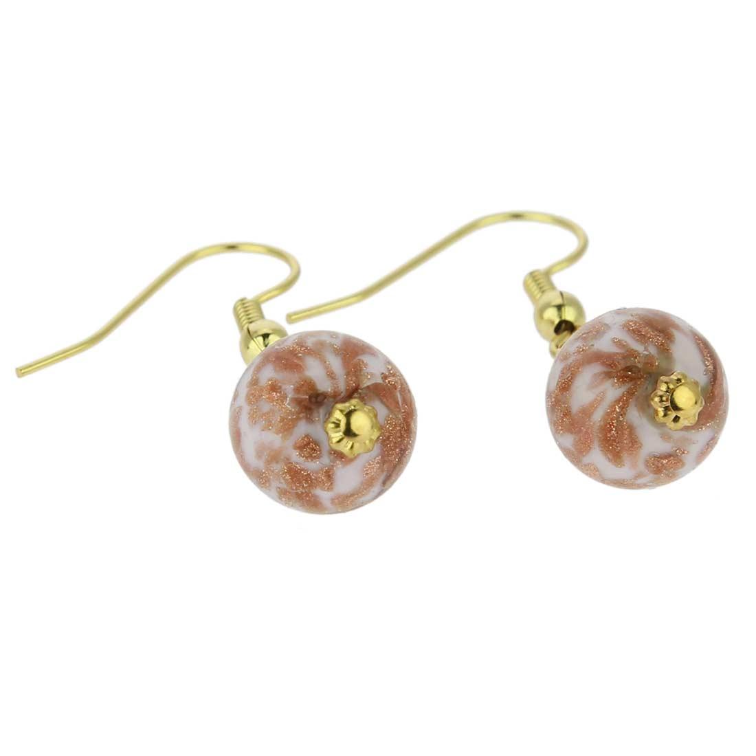 Starlight balls earrings - rose cream