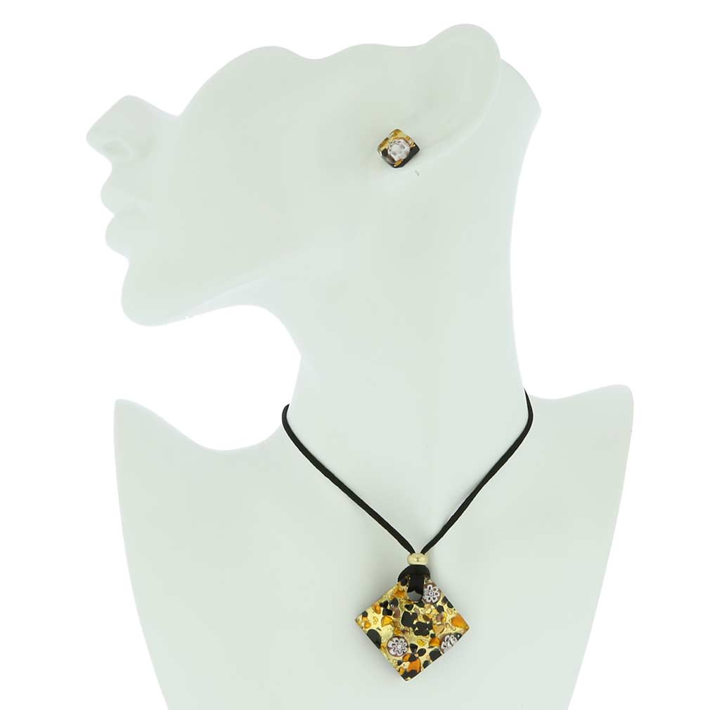Venetian Reflections Jewelry Set - Topaz Gold