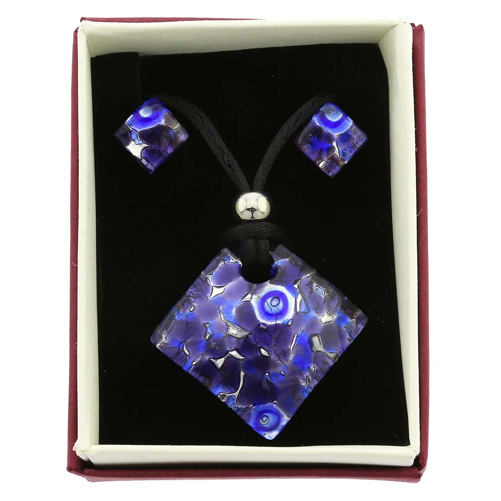 Venetian Reflections Jewelry Set - Periwinkle