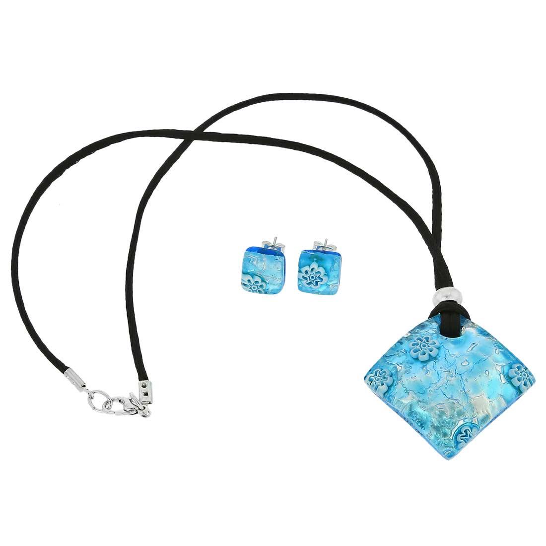 Venetian Reflections Jewelry Set - Aqua Silver