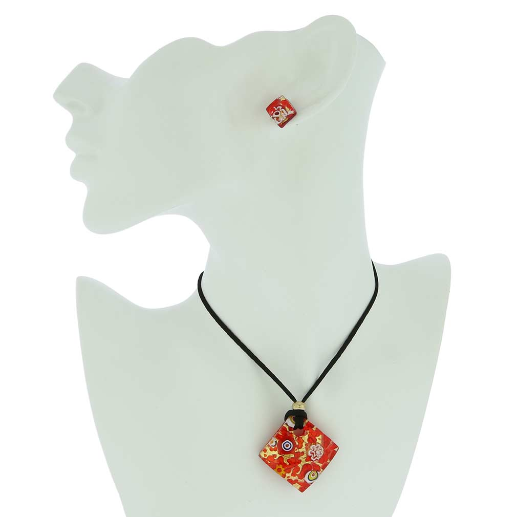 Venetian Reflections Jewelry Set - Red Gold