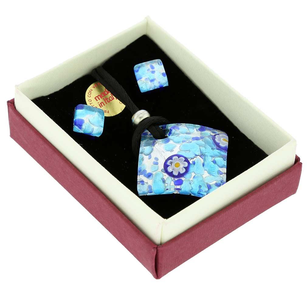 Venetian Reflections Jewelry Set - Aqua Blue