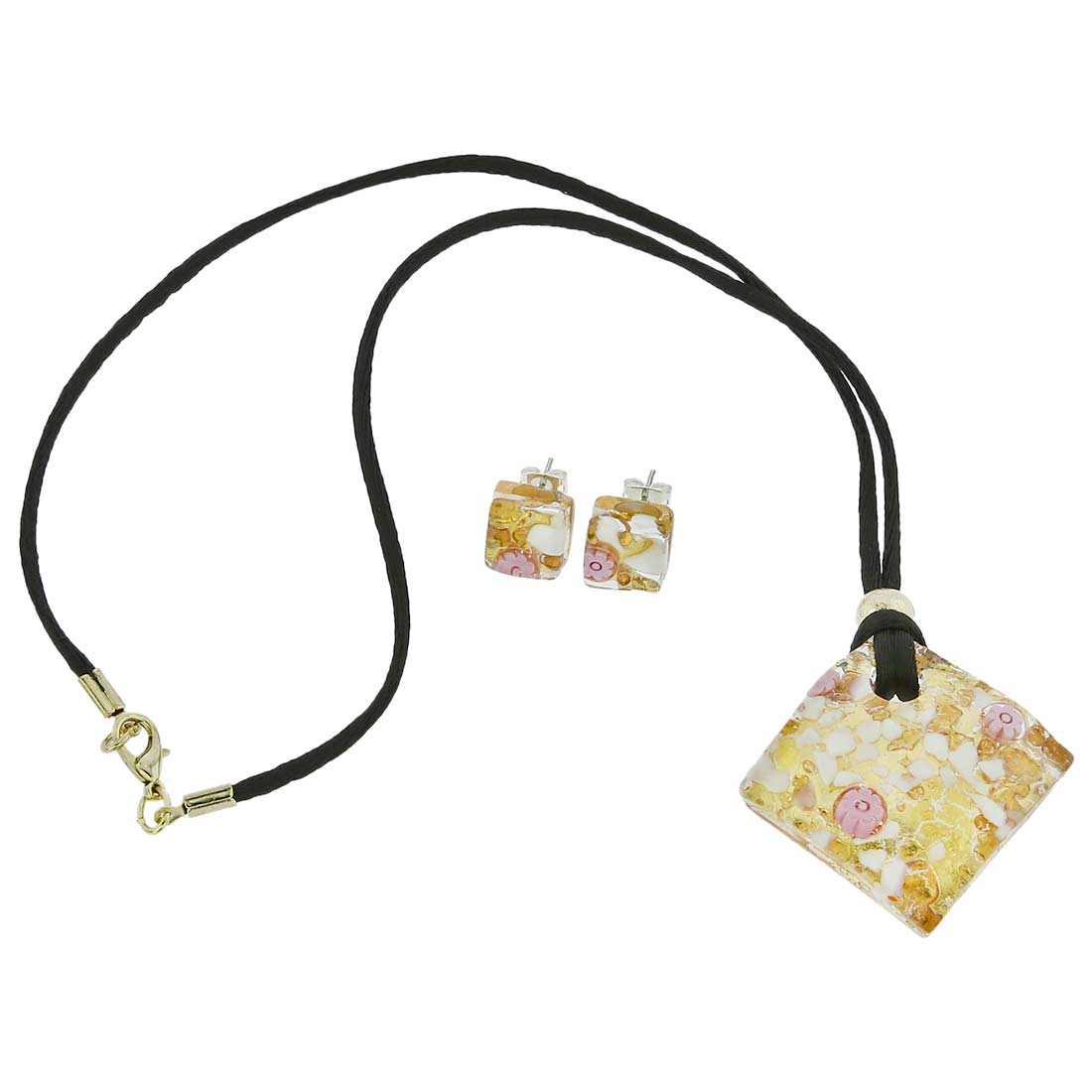 Venetian Reflections Jewelry Set - Purple Gold