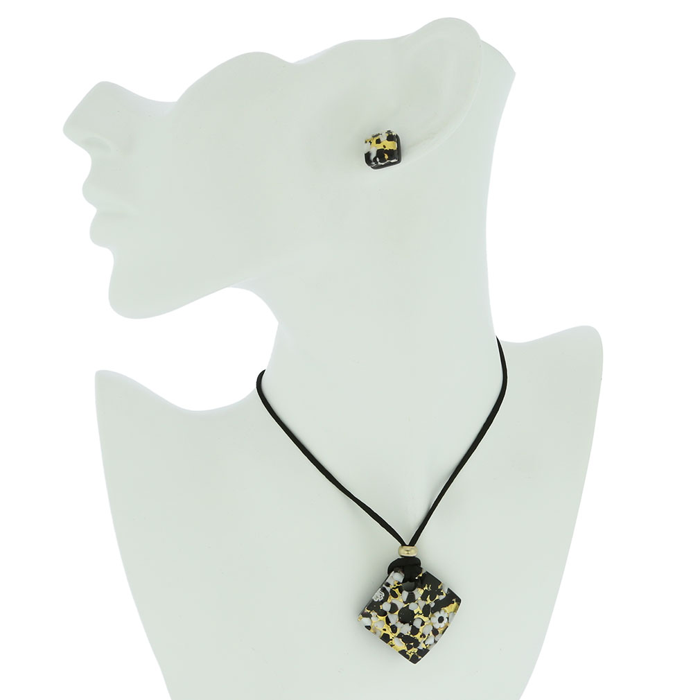 Venetian Reflections Jewelry Set - Black Gold
