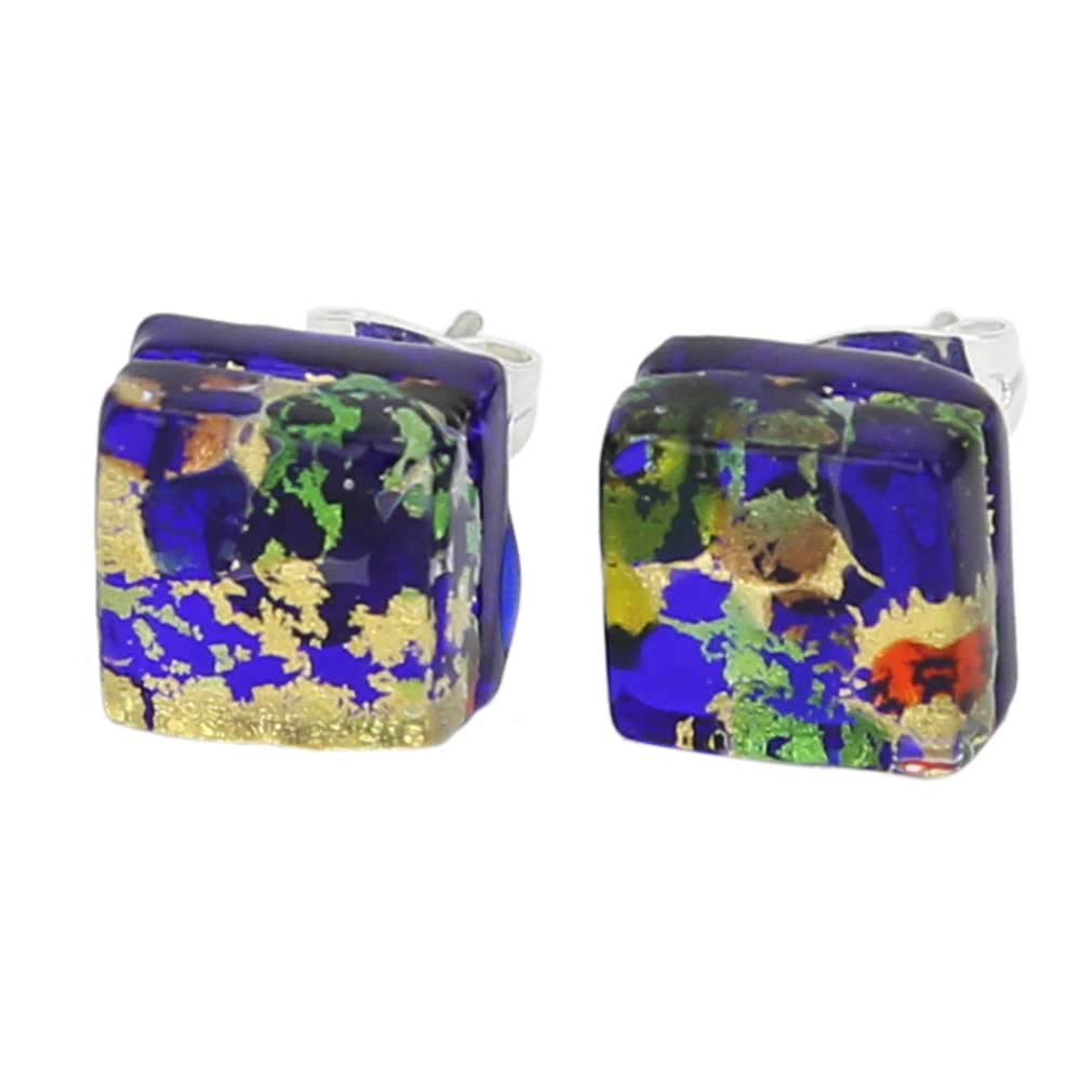 Venetian Reflections Square Stud Earrings - Golden Meadow