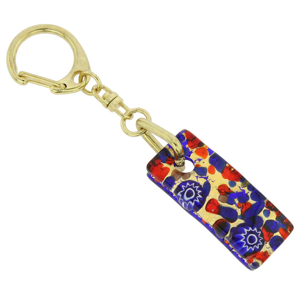 Murano Colors Stick Keychain - Blue Red