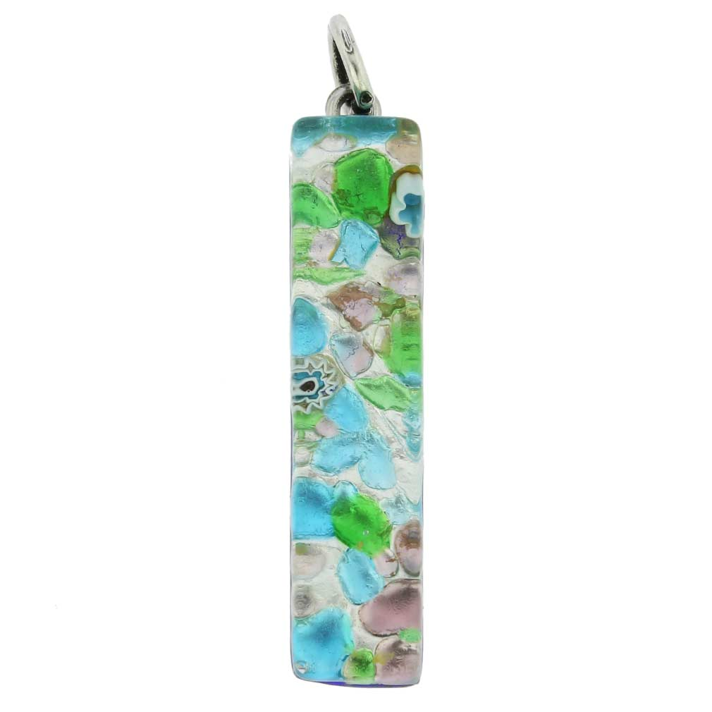 Venetian Reflections Stick Pendant - Silver Meadow