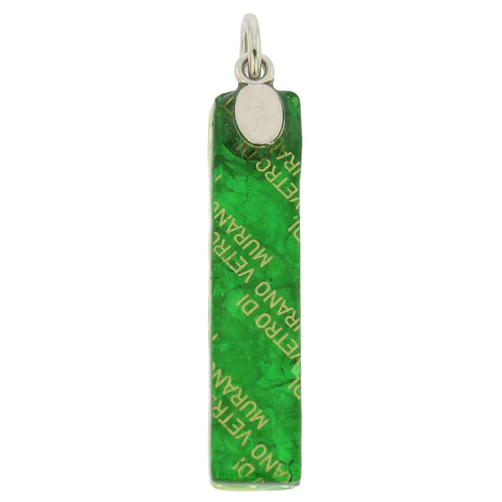 Venetian Reflections Stick Pendant Green Silver