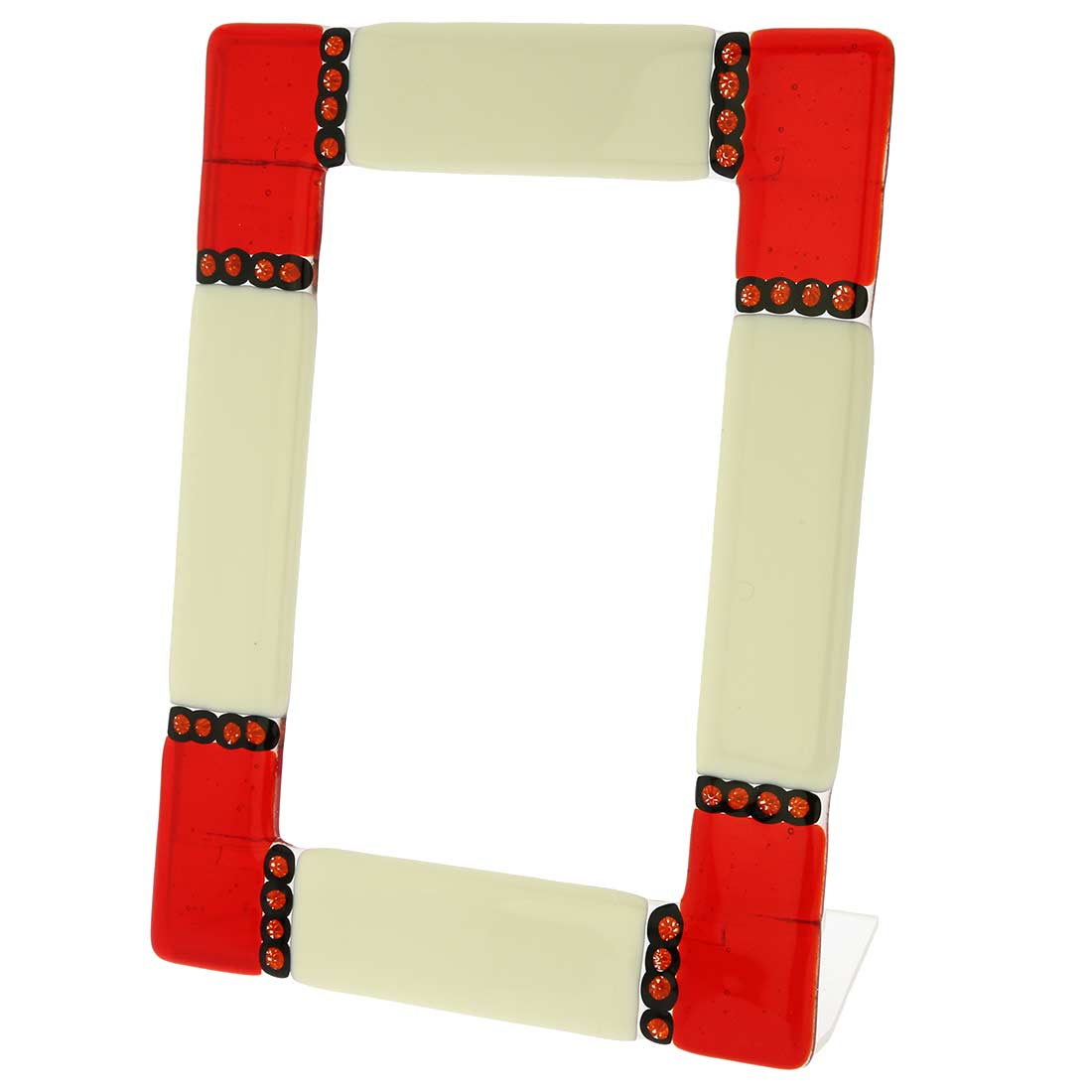 Murano Glass Photo Frame Ducale Red 4x6 inch