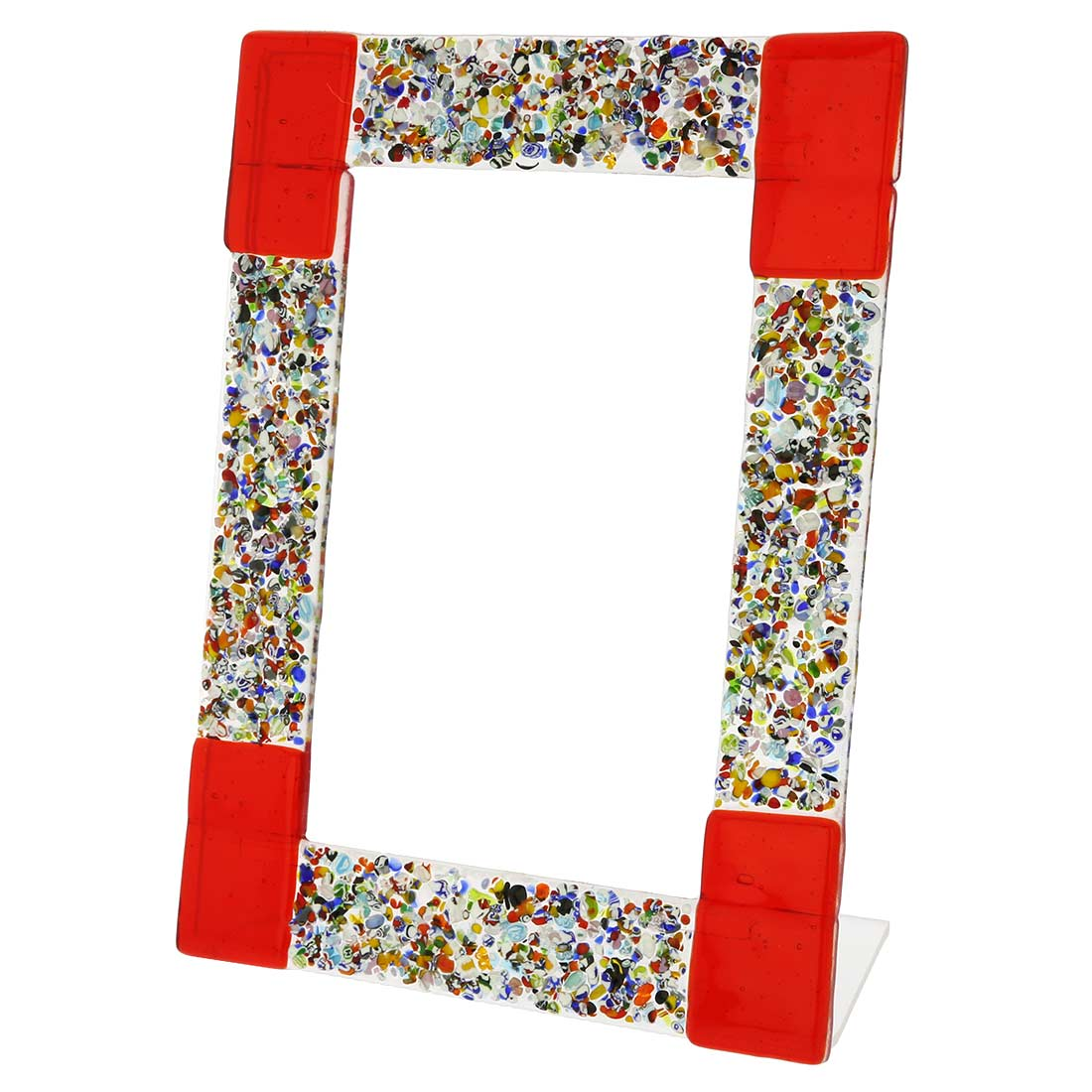 Murano Klimt Photo Frame - Red 4x6 inch