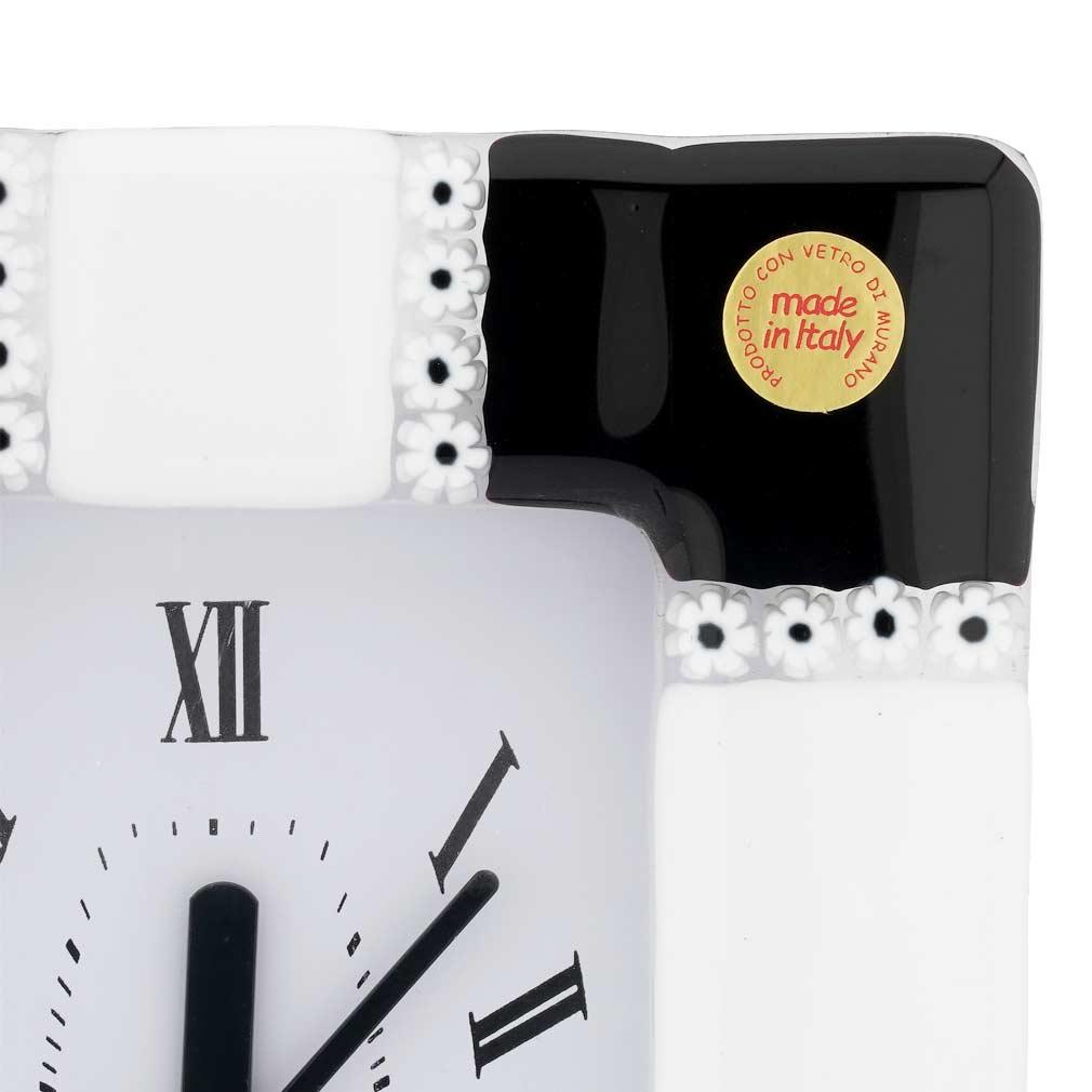 Murano Glass Wall Clock Tiepolo Red
