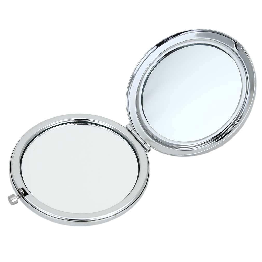 Murano Millefiori Folding Compact Mirror - Aqua Silver