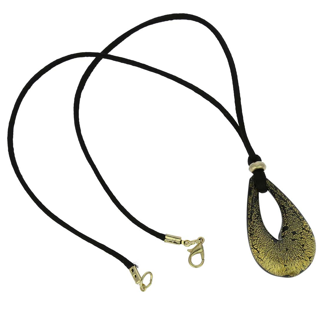 Gemma Murano Necklace - Black