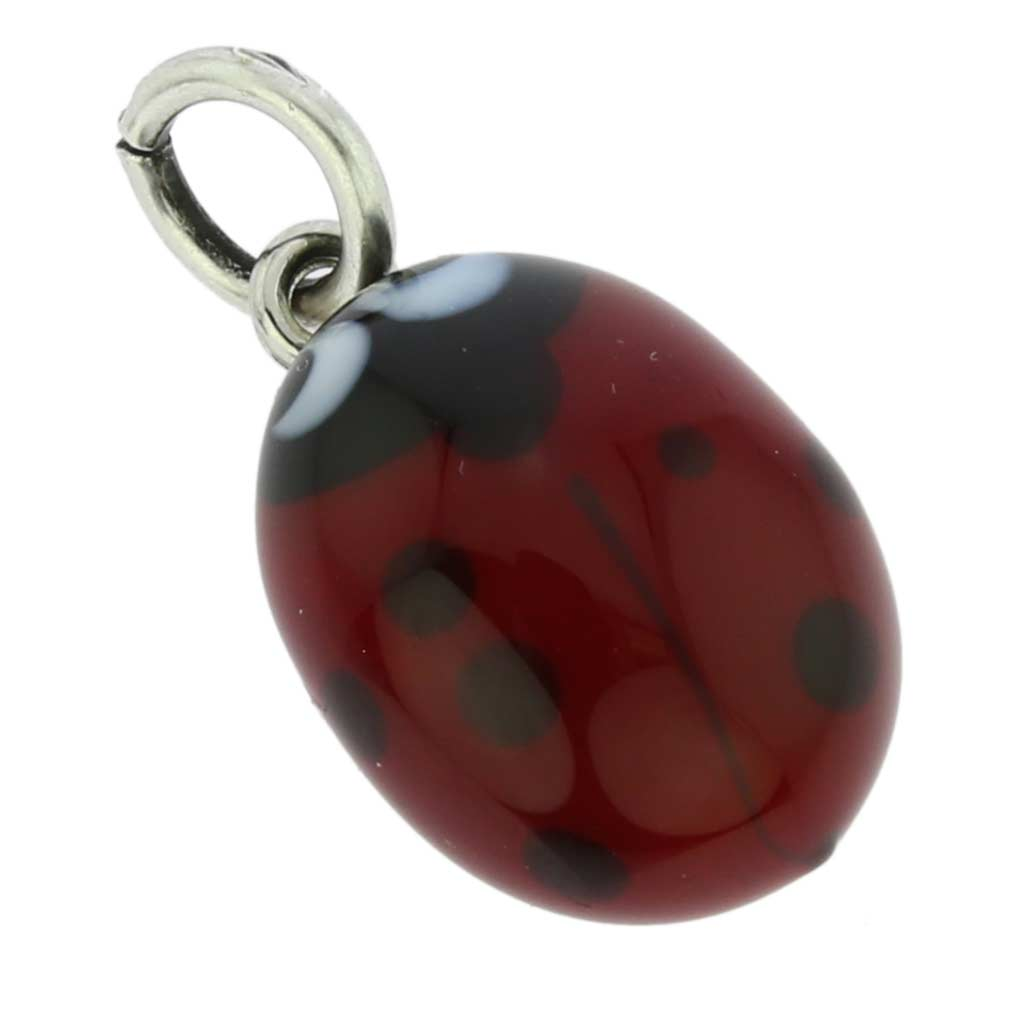 Murano Glass Ladybug Pendant