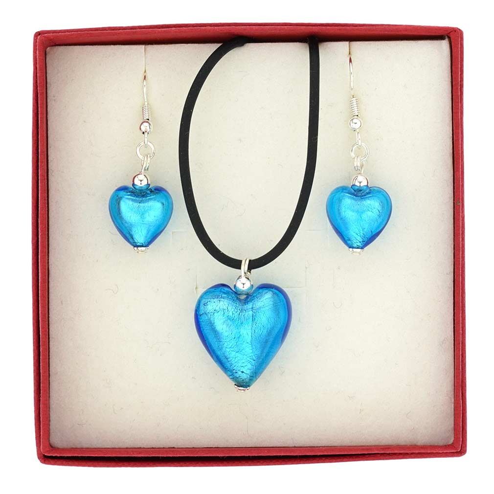 Venetian Reflections Jewelry Set - Light Blue