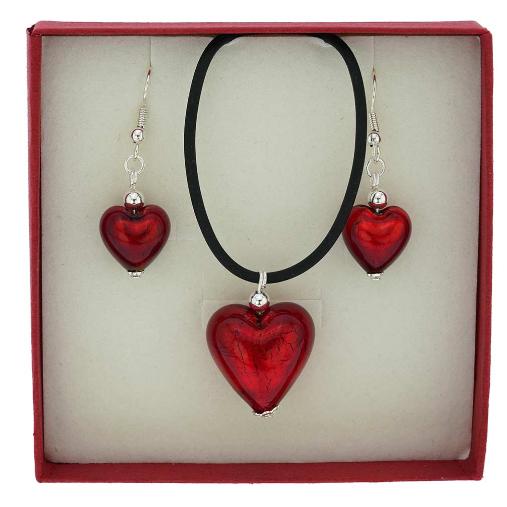 Venetian Reflections Jewelry Set - Red