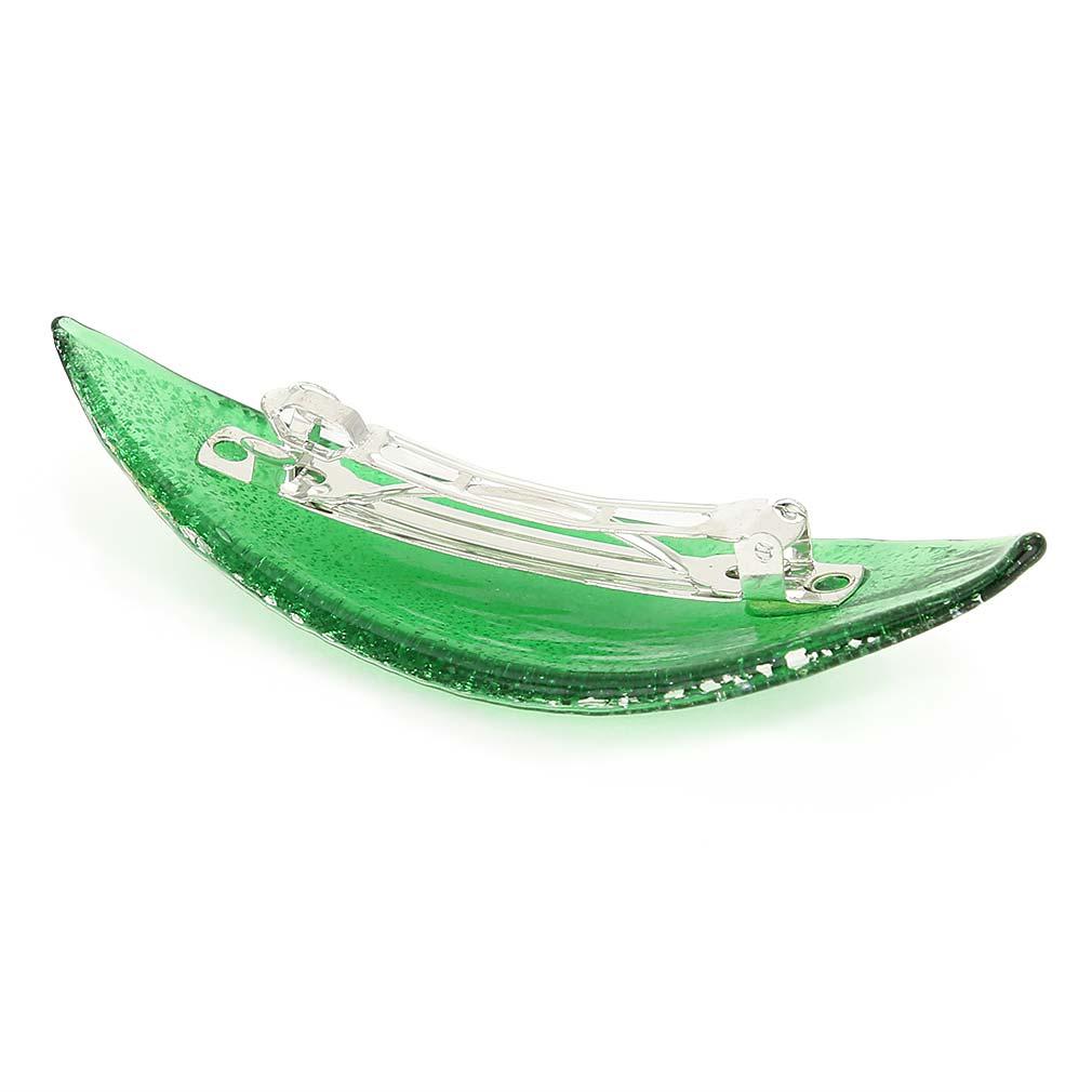 Silver Rain hair clip - Green