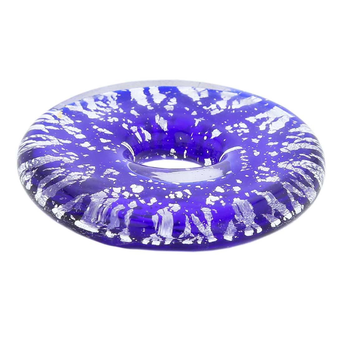 Silver Rain bagel pendant - Blue