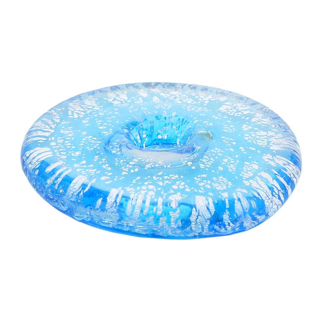 Silver Rain bagel pendant - Aqua