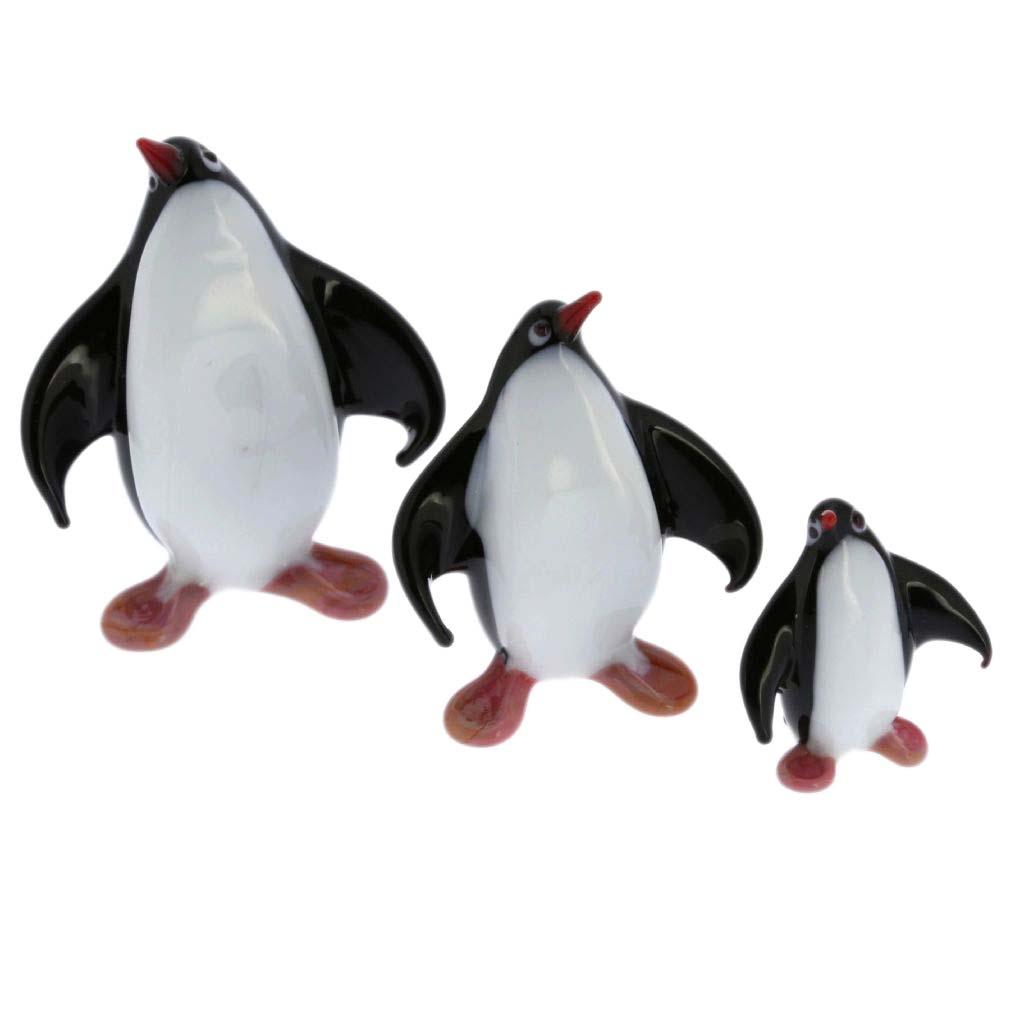 Murano Glass Penguin Family