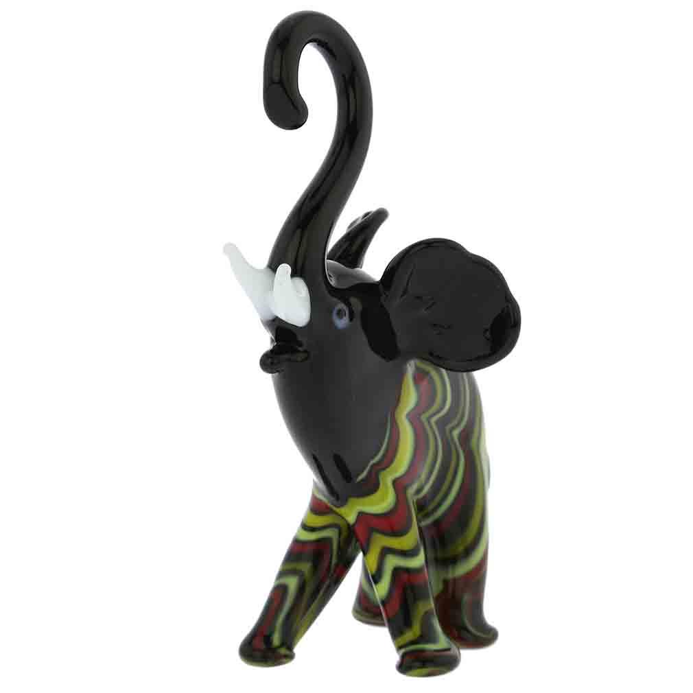 Festooned Glass elephant