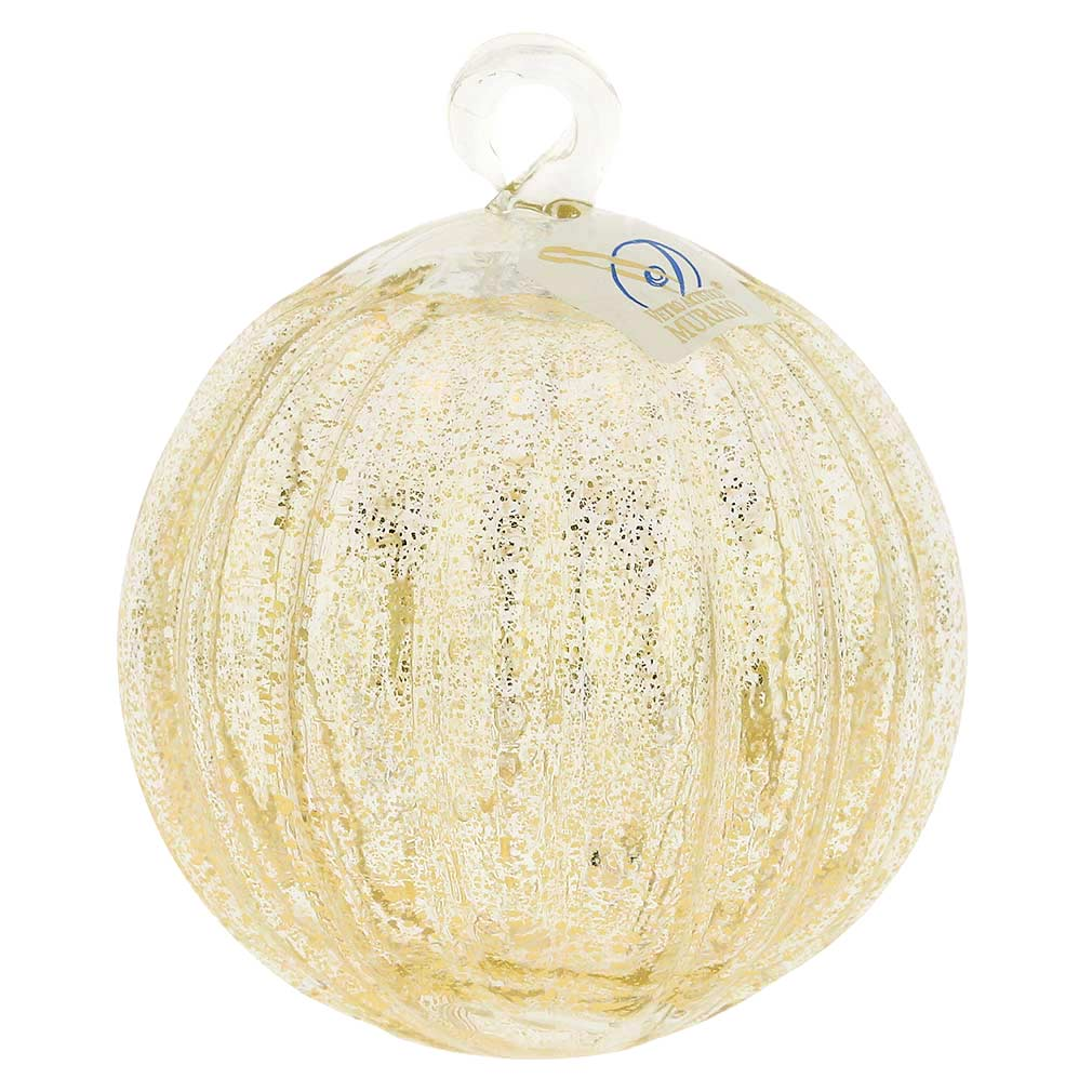 Murano Glass Medium Christmas Ornament - Clear
