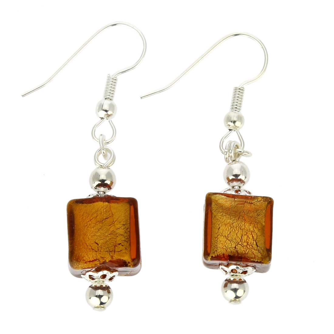 Antico Tesoro Cubes Earrings - Silver Topaz