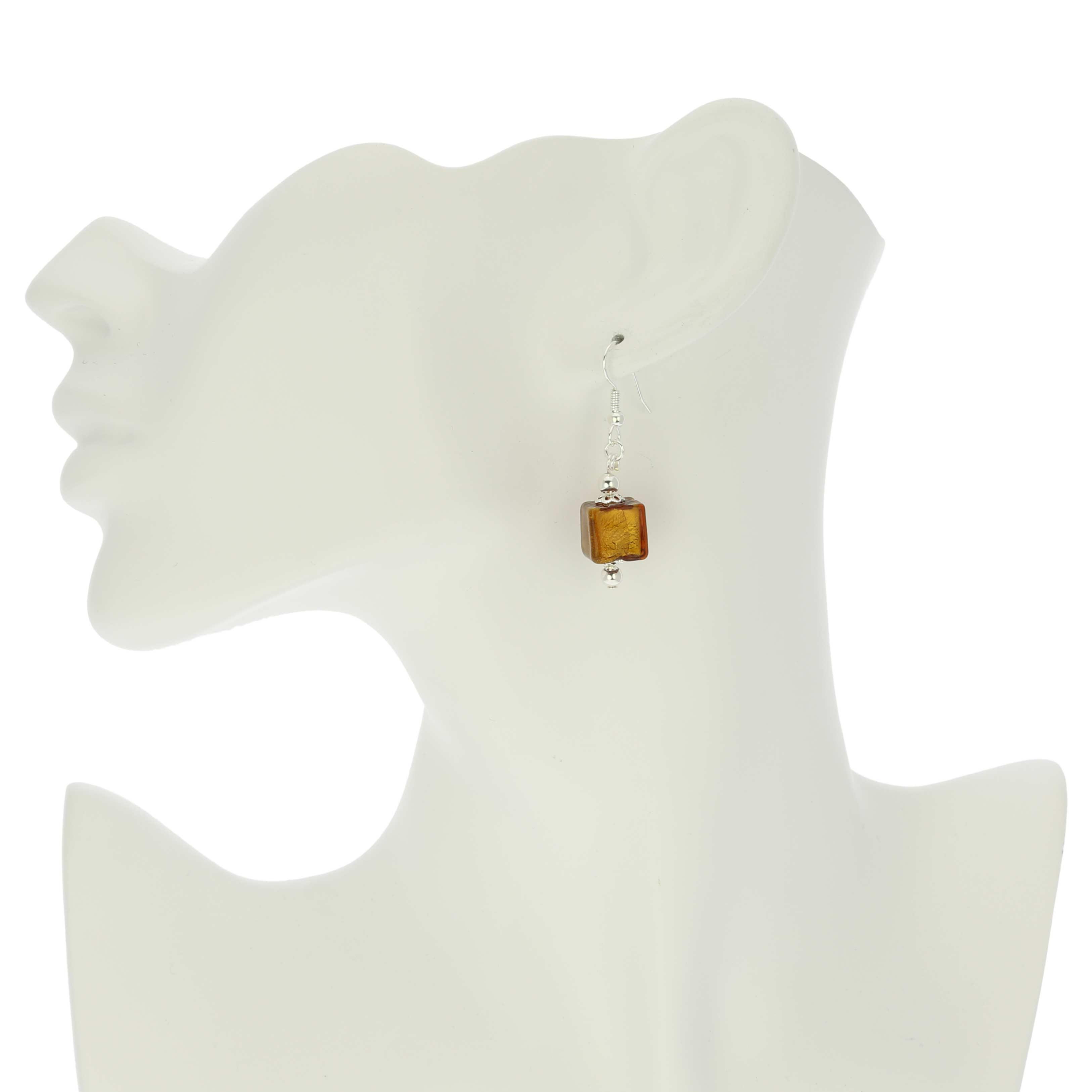 Antico Tesoro Cubes Earrings - Silver Topaz