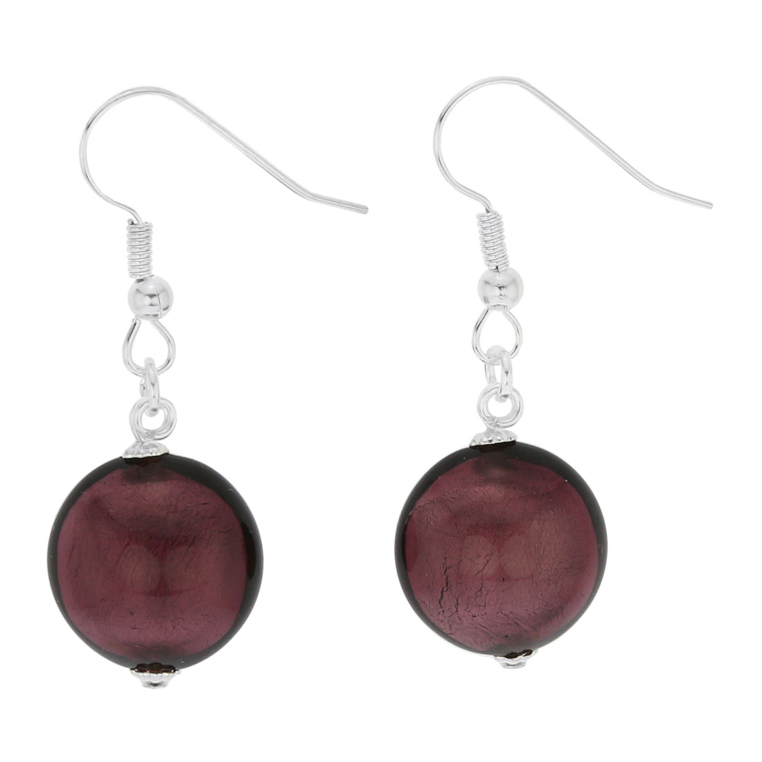Antico Tesoro Disk Earrings - Silver Amethyst