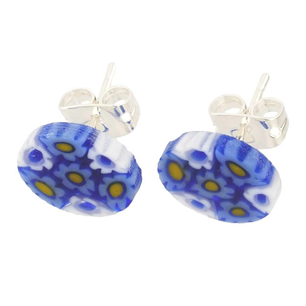 Millefiori Stud Earrings - Round #2