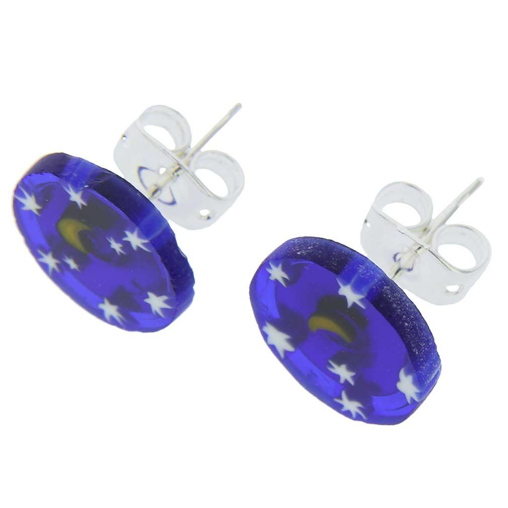 Millefiori Stud Earrings - Round #4