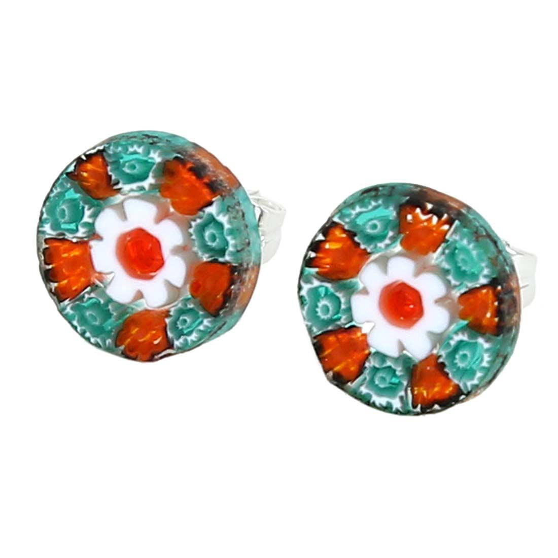 Millefiori Stud Earrings - Round #7