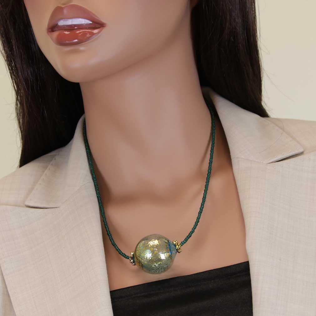 Serenella Murano Necklace - Aqua