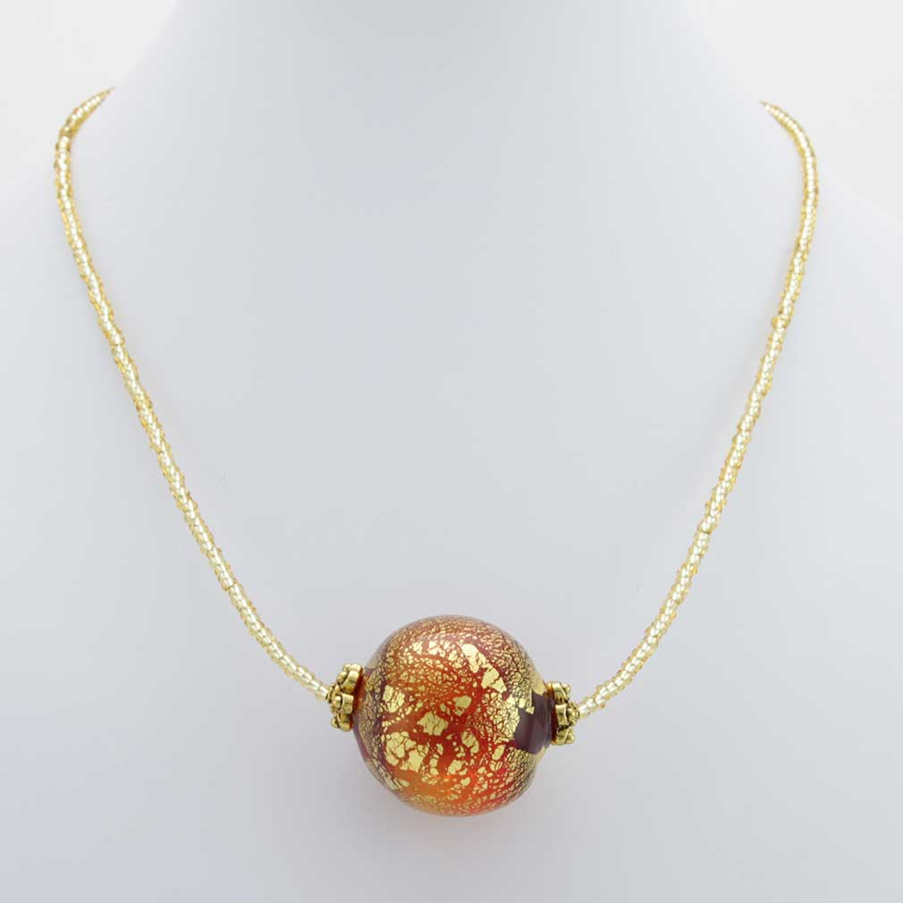 Serenella Murano Necklace - Red