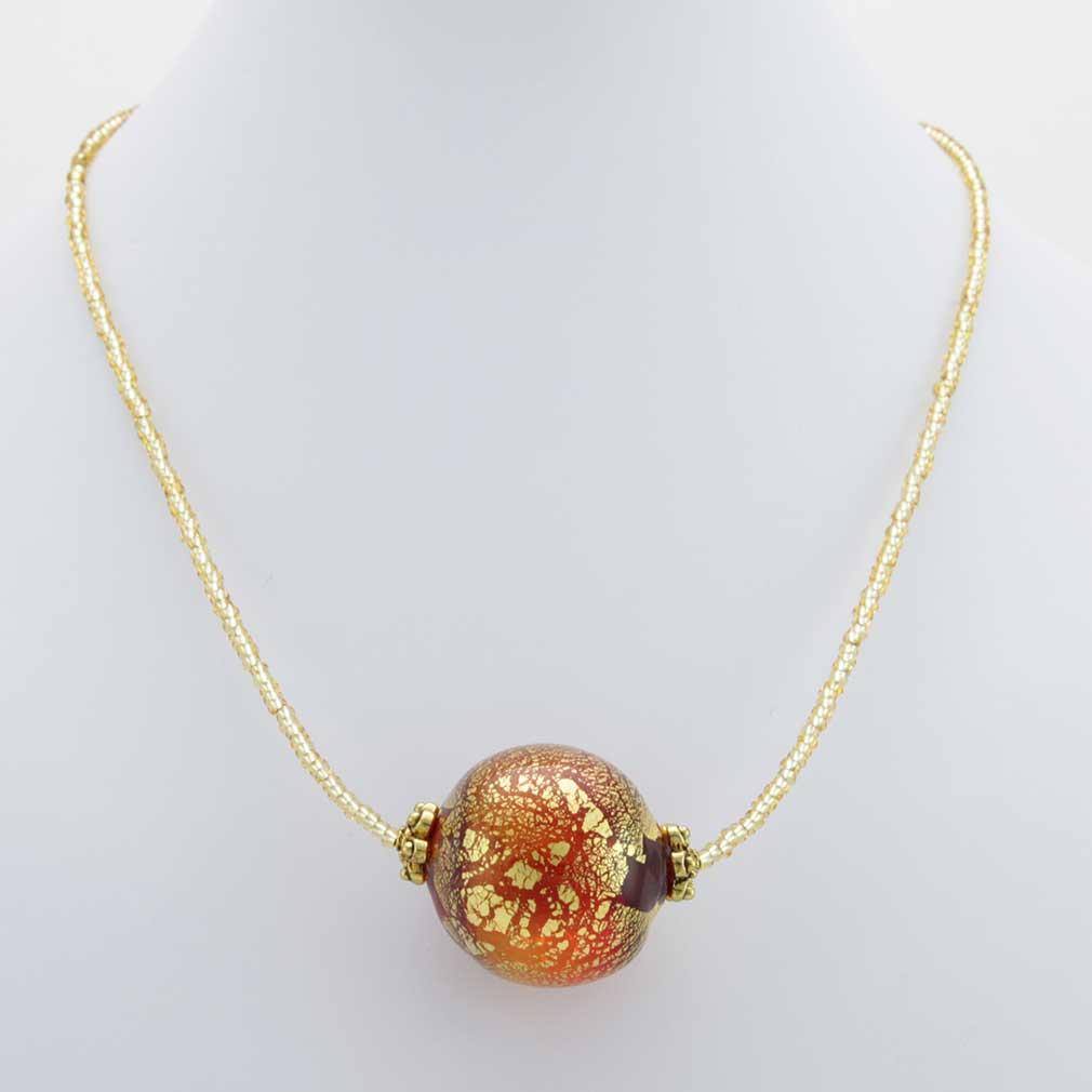 Serenella Murano Necklace - Red