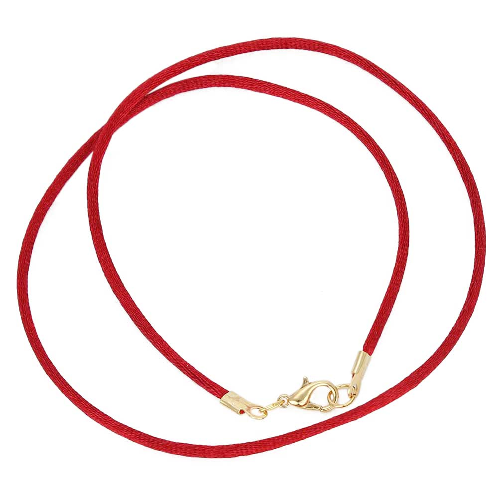 Silk Cord - ruby red