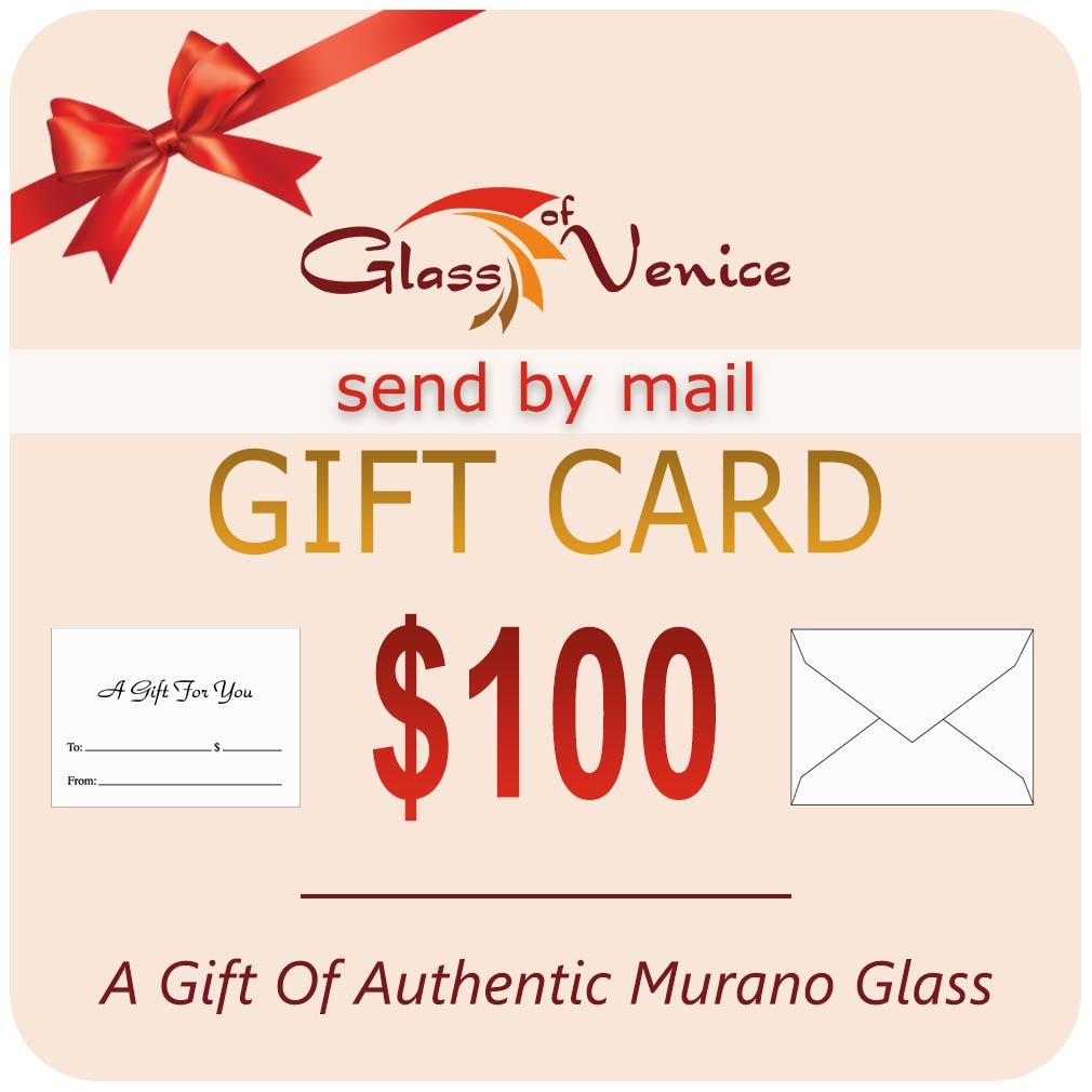 $100 GlassOfVenice Gift Certificate