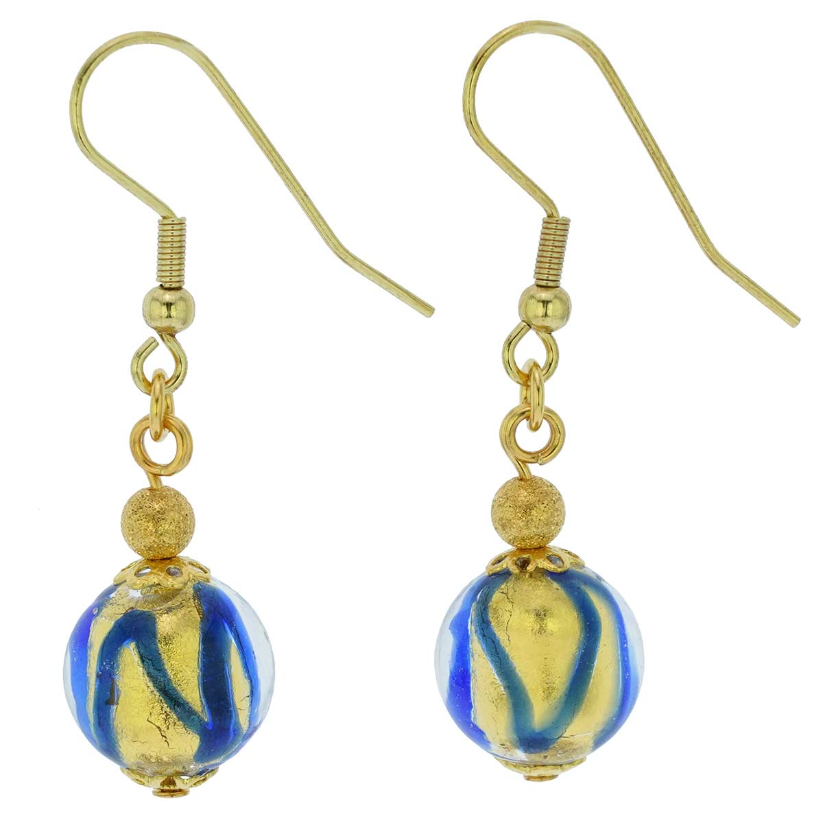 Royal Blue Ball earrings