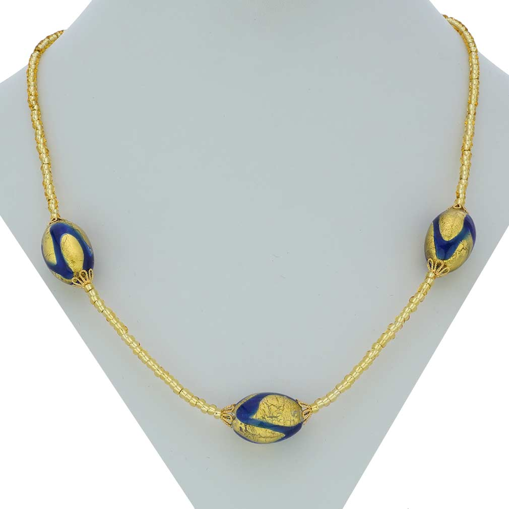 Royal Blue Capsules necklace
