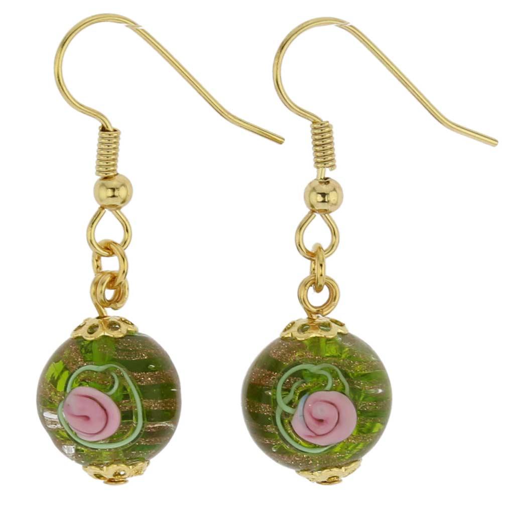 Magnifica Earrings - Emerald Green