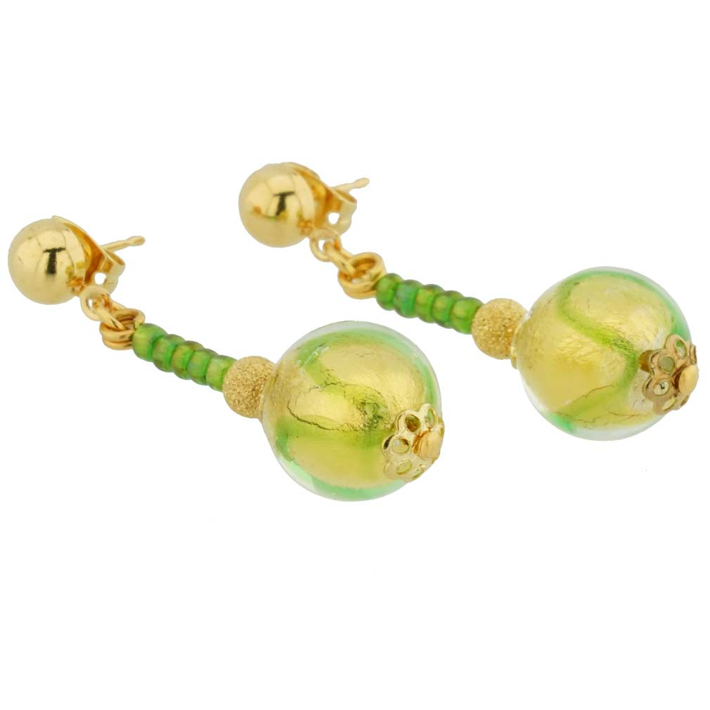 Canaletto Earrings - Gold Emerald