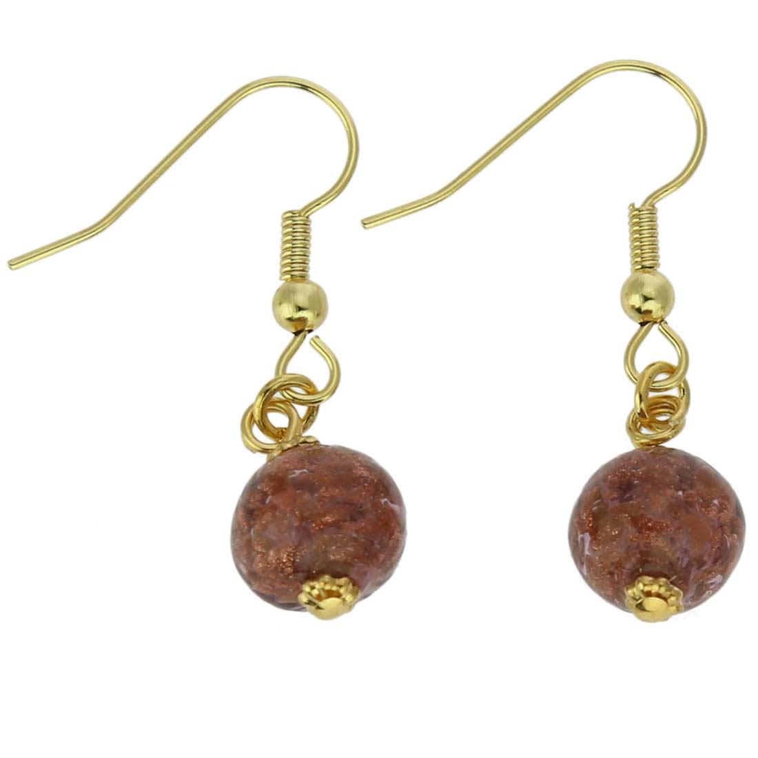 Starlight balls earrings - amethyst