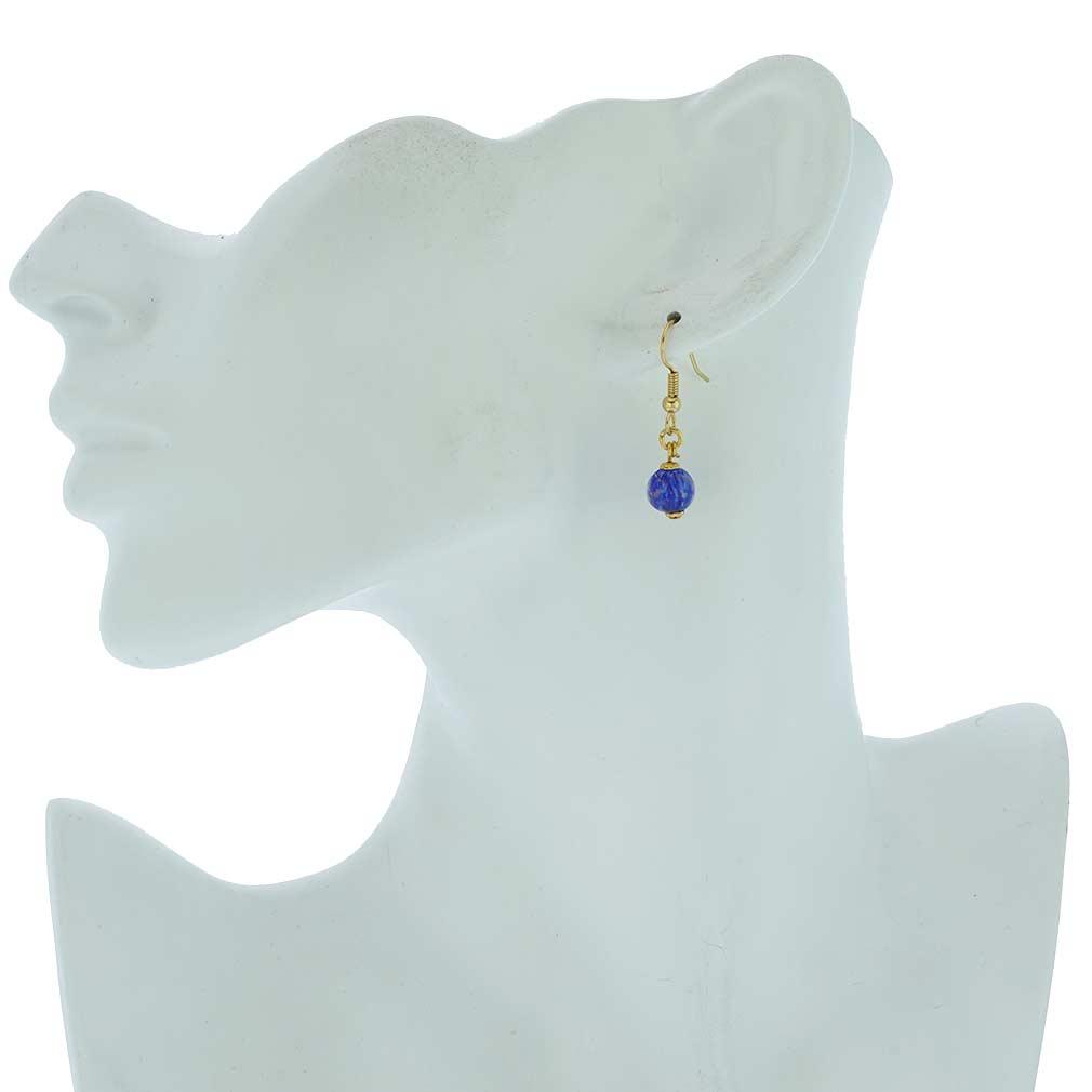 Starlight balls earrings - light blue