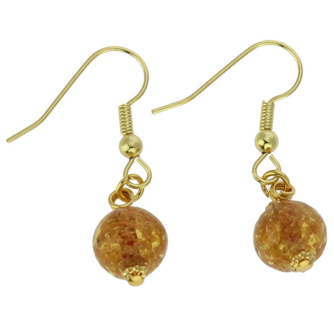 Starlight Balls Earrings - Light Topaz
