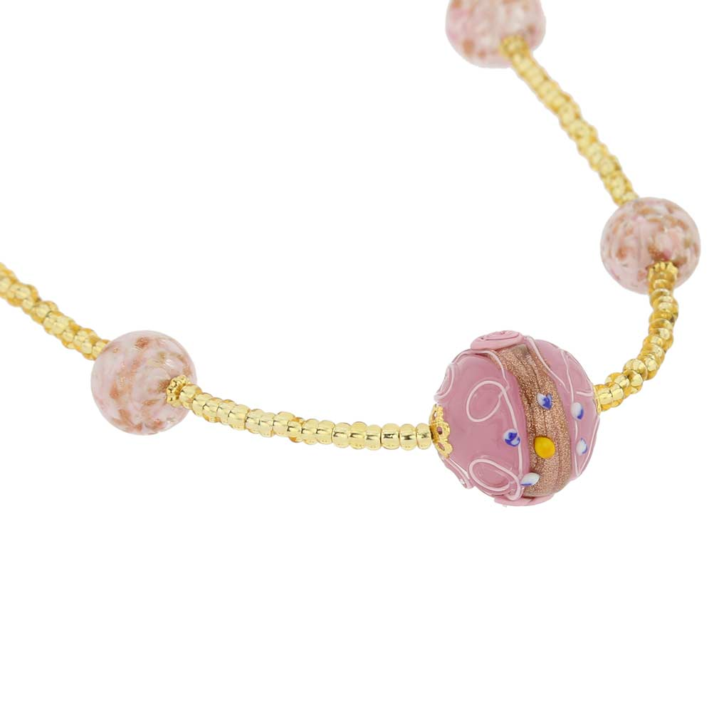 Rialto Necklace - Carnation Pink