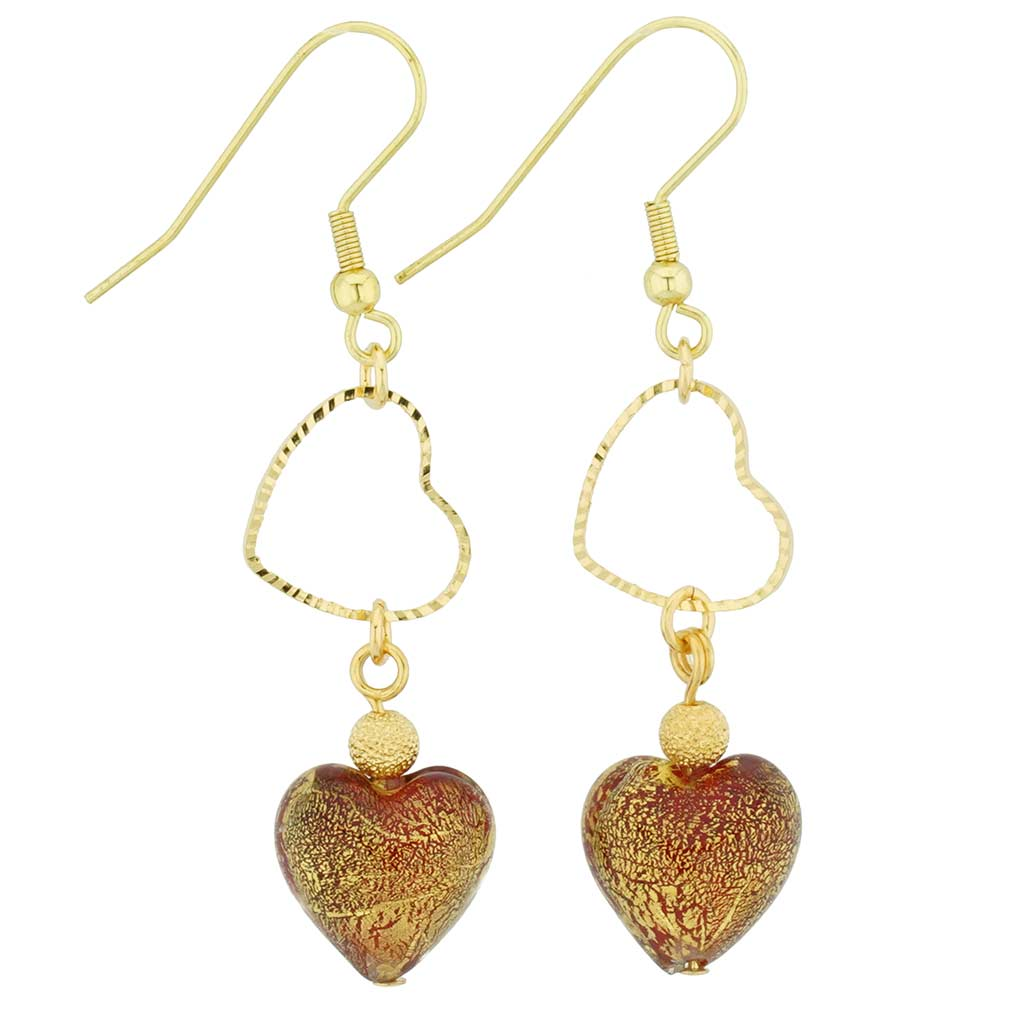 Ca D\'Oro Venetian Heart earrings - red