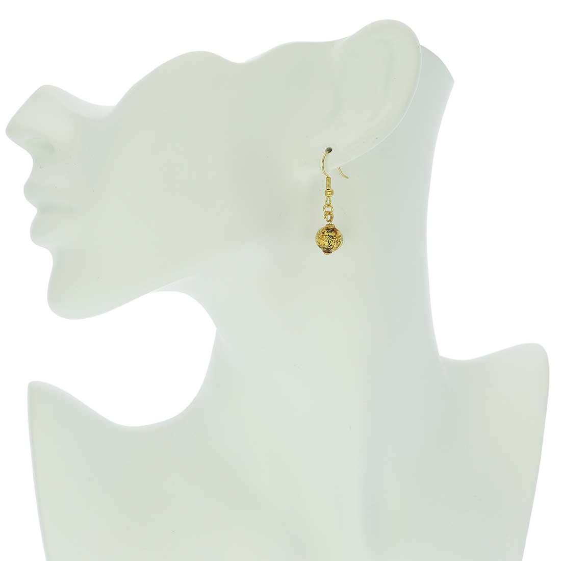 Golden Glow Earrings - Topaz
