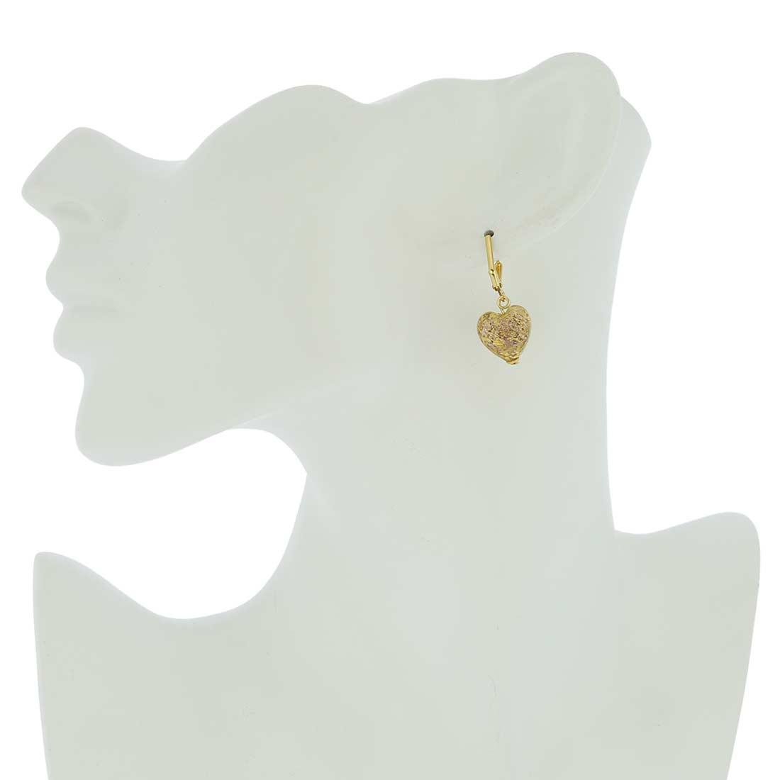 Ca D\'Oro Murano Heart earrings - Amethyst